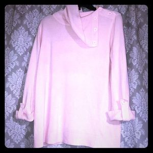 Pink casual cotton blouse
